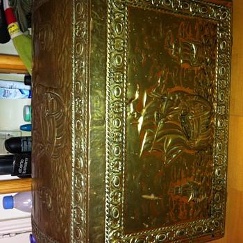 Brass vintage chest