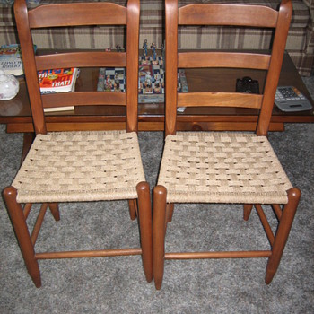 Two Cherry slat backs - Furniture