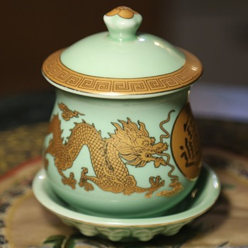 Covered Jar and Plate - Chinese - Asian