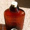 """1914 Medicinal """"Antique Whiskey"""" Bottle ~ Depressed Spider Webs 100 Proof"""