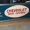 Chevrolet seat cover sign