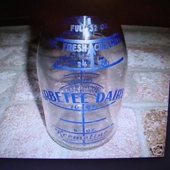 "Blue ""Kremeline"" Arbetee Dairy Milk Bottle...... - Bottles"