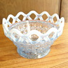 Light blue lattice bowl