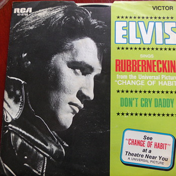 "1969 Elvis Presley ""Rubberneckin"" and ""Don't Cry Daddy"" 45rpm w P/S - Records"