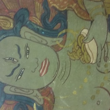 I believe old textile from Tibet?