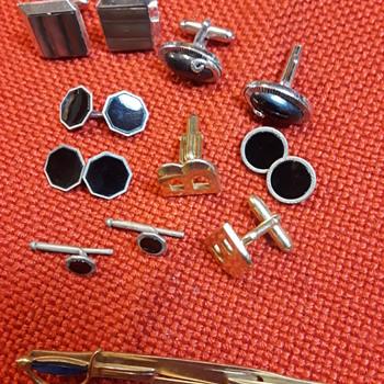 some SWANK cufflinks and a tie clip - Fine Jewelry