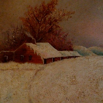Snowstorm Oil Painting By Flora Taylor December 23, 1885 - Fine Art