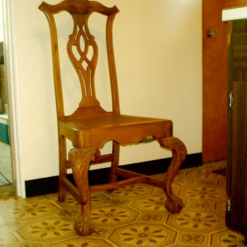 Chippendale side chair with cane seat.  Real or repro?  Age?  Info?  Thanks!