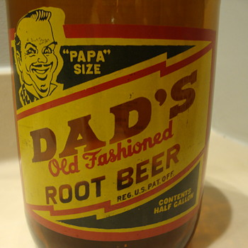 DAD'S HALF GALLON ROOT BEER BOTTLE - Bottles