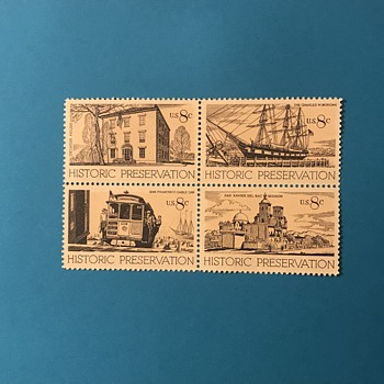8 Cents Historic Preservation Issue Stamps - Stamps