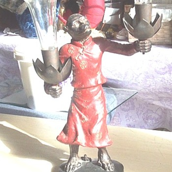 "vintage 11"" standing female monkey/ape  - Figurines"