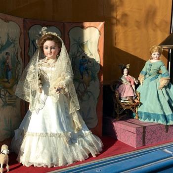 Antique French Dolls, Shop Windows, Rue de Vaugirard, Paris