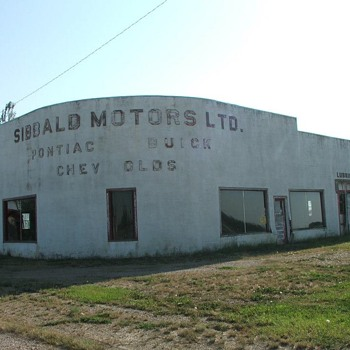 Old car Dealership Photo  - Advertising