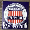 1910s Rochester Independent Pay Station sign