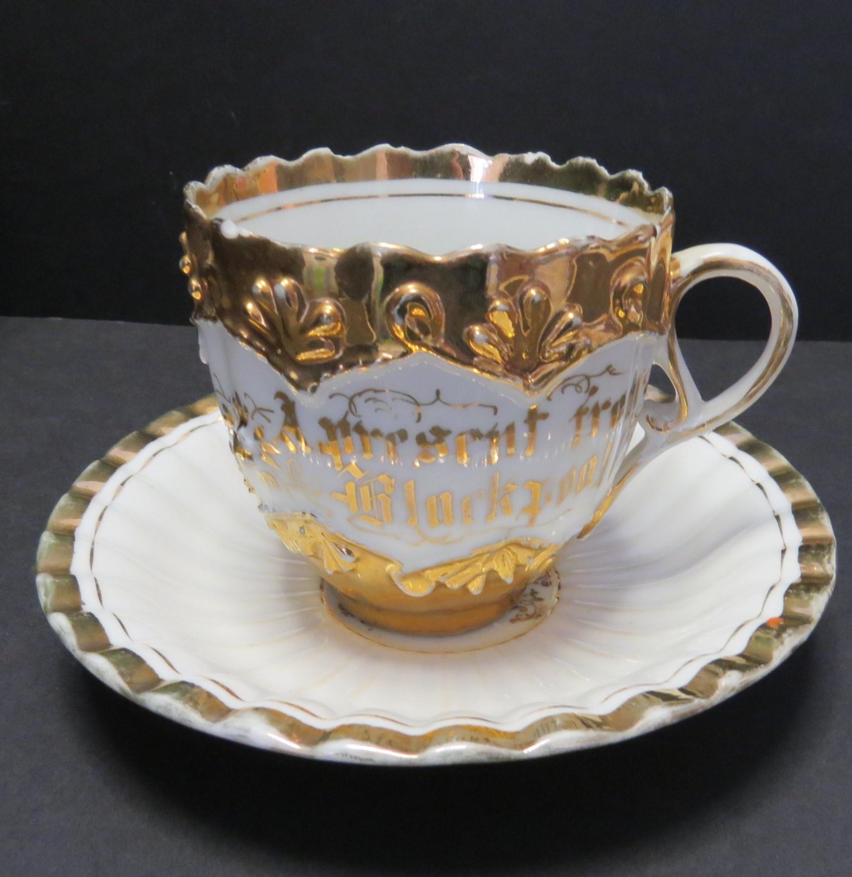 Collectible Vintage 1930s  Small Pearlised Souvenir of Blackpool Mug
