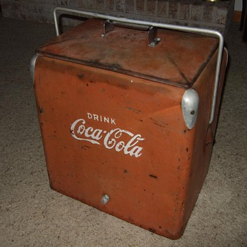 coca cola picnic cooler, 1950's