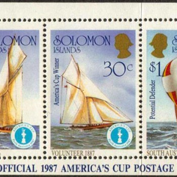 "Solomon Islands - ""America's Cup"" Postage Stamps"