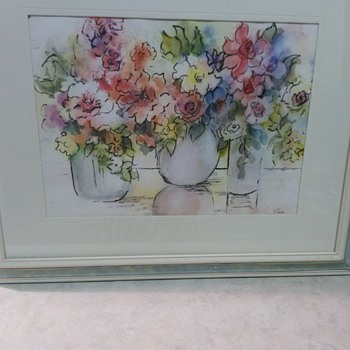STILL FLORAL WATERCOLOR PAINTING - Fine Art