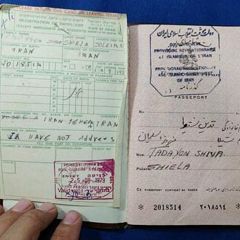 Ca. 1979 Provisional Islamic Revolutionary Government of Iran Passport - Paper