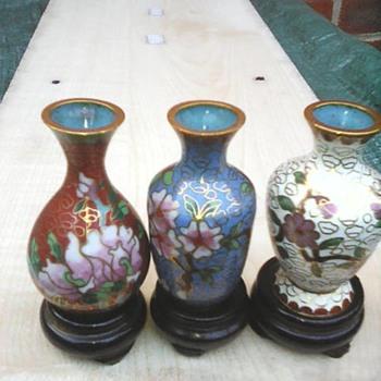 My miniature cloisonné vases - Asian
