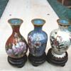 My miniature cloisonné vases