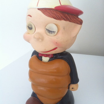 """UMP"" 1960s Umpire Bobblehead with Lenticular eyes."