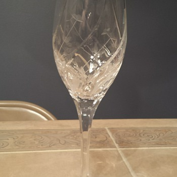 Beautiful crystal glassware