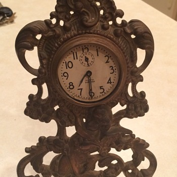 Victorian Brass Cherub Clock Case - Clocks