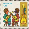 """1978 - Brazil """"Musicians"""" Postage Stamps"""