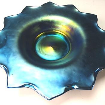 Loetz 12 tipped Star dish - Art Glass