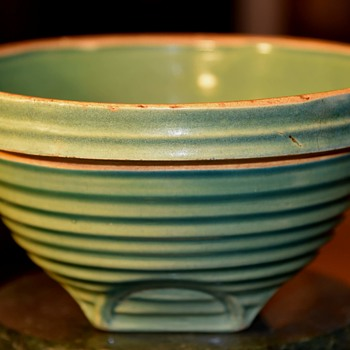 Old Green Mixing Bowl - Kitchen
