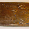 Bronze plaque made from salvage parts of The USS Maine