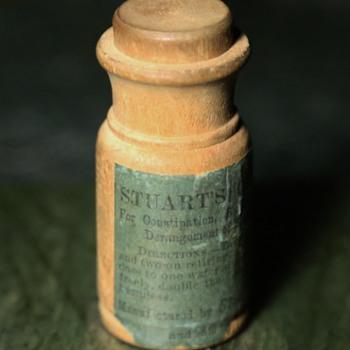Turned Wood Mock Pill Bottle - Stuart's Calcium Wafers