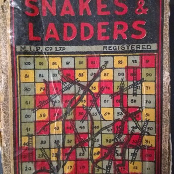 Snakes & Ladders with Hand-Made Wooden Dice - Games