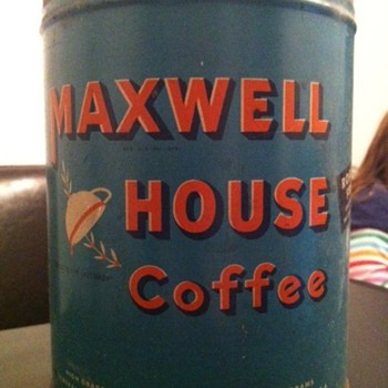 Vintage Maxwell House Coffee tin - Kitchen