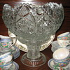 Cut Glass Punch Bowl...1960's