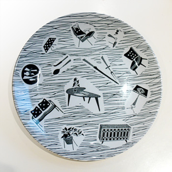 Dish from the Homemaker dishware range, Enid Seeney (Ridgway Potteries, 1957)  - Pottery