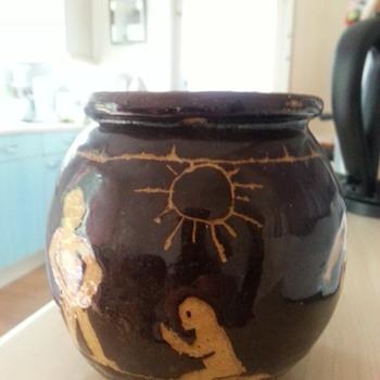 Old stoneware vase - Pottery