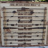2 of my 11 rare barbed wire plaques