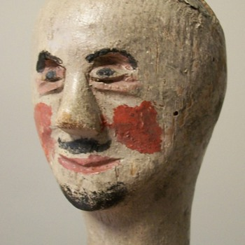 19th Century Folk Art Puppet Doll Head Collection Jim Linderman - Folk Art