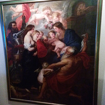 "1800s painting of Sir Peter Paul Rubens  ""The Virgin and Child with Saints"" - Fine Art"