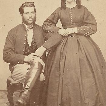 Is this man in a Civil War Union uniform jacket?