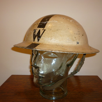 British WW11 Senior Wardens steel helmet.