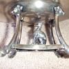 Victorian figural silverplate basket