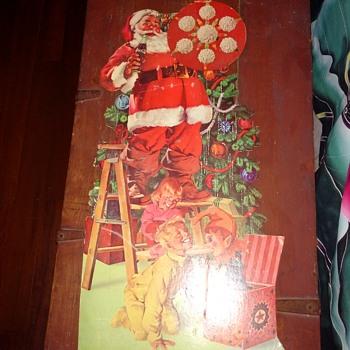 """Vintage Coke Santa 28"""" - Coca-Cola"""