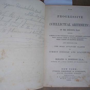 1863 Byron Vanderbilt's Arithmatic Book with Handwritten Poem - Books