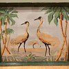 Large (Flamingos, Cranes?) Birds Painting Signed Bien HELP ID!