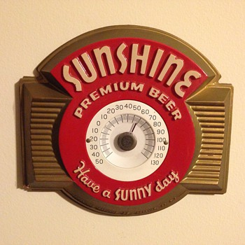 Sunshine Beer Thermometer - Breweriana