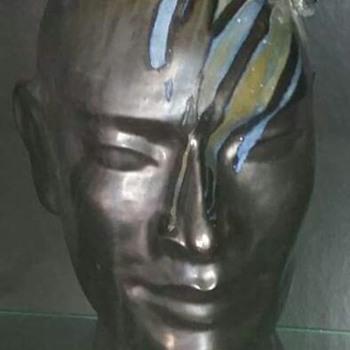 ADULT MALE TRIBAL HEAD - Fine Art