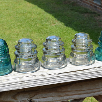 9 More Glass Insulators - Tools and Hardware